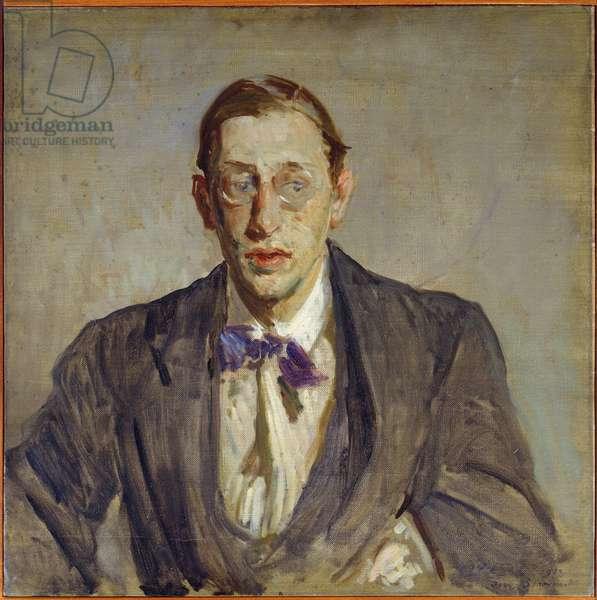 Study for the portrait of the composer of Igor Stravinsky (1882-1971) 1913