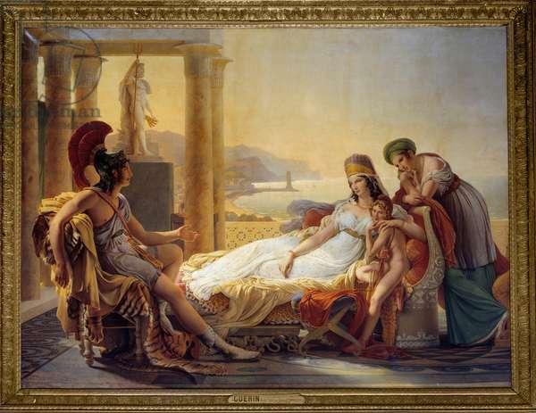 Aeneas telling Dido of the Disaster at Troy, 1815 (oil on canvas) - Enee racontant a Didon les malheurs de la ville de Troie - Painting by Pierre Narcisse (Pierre-Narcisse) Guerin (1774-1833), 1815 - Oil on canvas - Sun: 2,92 x 3,90m -