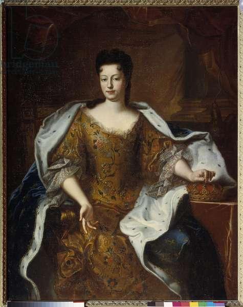 Portrait of Charlotte Elisabeth d'Orleans (1676-1744), Duchess of Lorraine, daughter of the Palatine. Painting from the workshop Pierre Gobert (1662-1744) 1698 Dim. 1,4x1,11 m  - Portrait of Charlotte Elizabeth d'Orleans (1676-1744), Duchess of Lorraine, daughter of the Palatine. Painting from the studio of Pierre Gobert (1662-1744), 1698. 1,4 x 1,11 m.