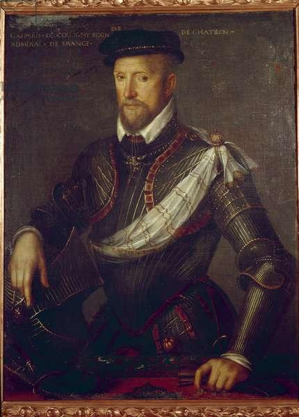 Portrait of Admiral Gaspard de Coligny (1519-1572) Anonymous painting. 16th century Paris, Musee du Protestantisme