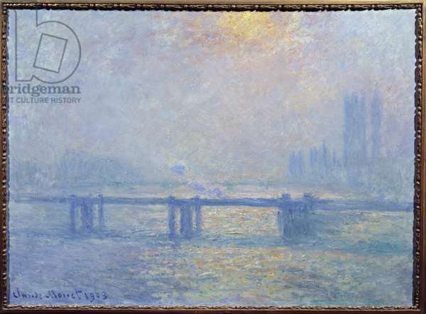 The Thames at Charing Cross, London, 1903 (oil on canvas)