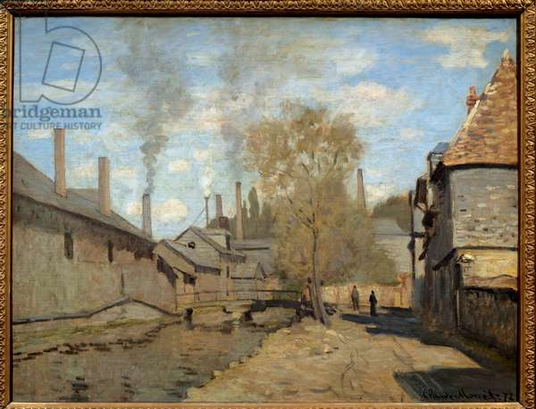 The creek of robec has rouen. Painting by Claude Monet (1840-1926), 1872. Oil on canvas. Dim: 0,50 x 0,65m. Paris, Musee D'Orsay