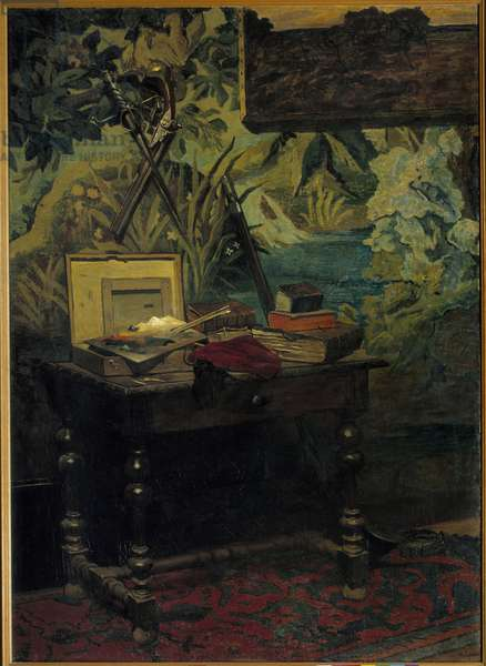 Workshop corner Painting by Claude Monet (1840-1926) 1861 Sun. 1,82x1,27 m Paris, musee d'Orsay