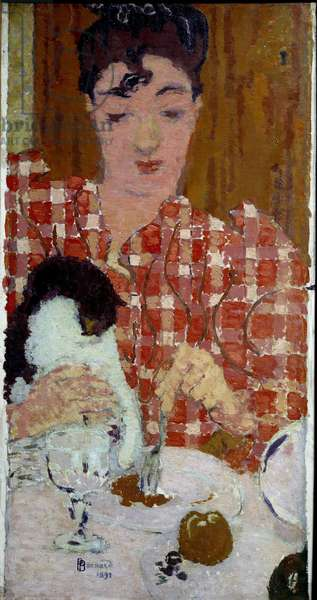 The tile bodice Painting by Pierre Bonnard (1867-1947) 1892 Dim. 0,61x0,33 m Private collection