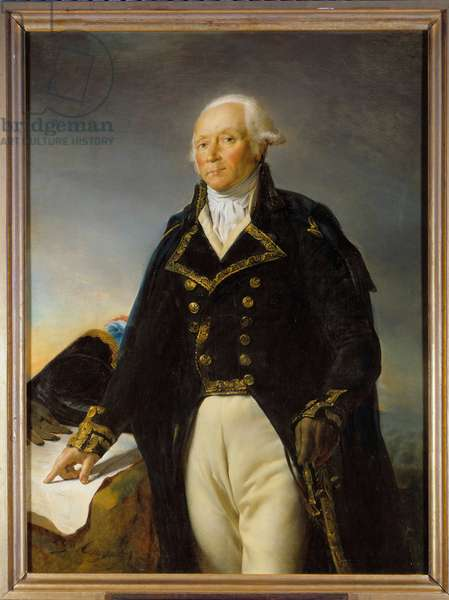 Portrait of Francois Christophe Kellermann (1735-1820), Duke of Valmy, General in Chief of the Armee of Moselle Painting by Georges Rouget (1784-1869) 1792 Dim. 1,35 x 1 m