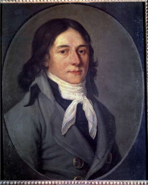 Portrait of Camille Desmoulins (1760-1794), politician during the French Revolution Painting of the French School. 18th century.