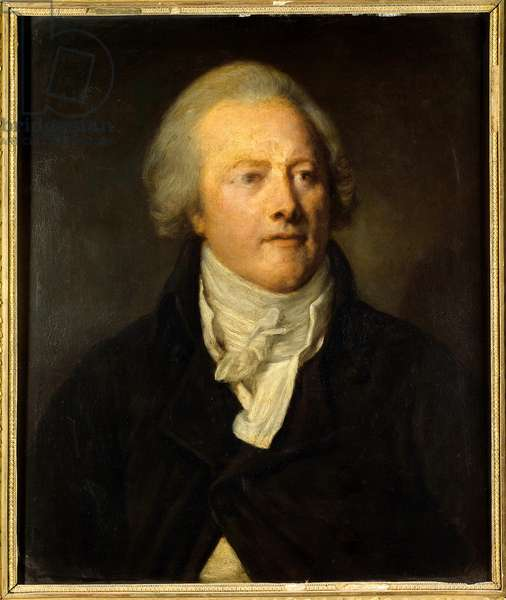 Portrait of Armand Gensonne (1758 - 1793) member of the legilslative assembly of the convention. Painting by John the Baptist Greuze (1725-1805), 18th century. Oil on wood. Dim: 0.54 x 0.45.