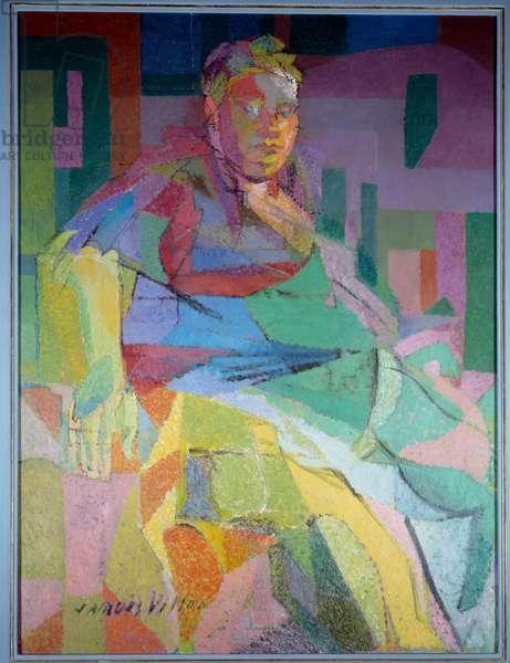 Portrait of the sculptor Camille Renault (1866-1954) Painting by Jacques Villon (1875-1963) 1944 Sun. 1,29x0,97 m Rouen, musee des Beaux Arts