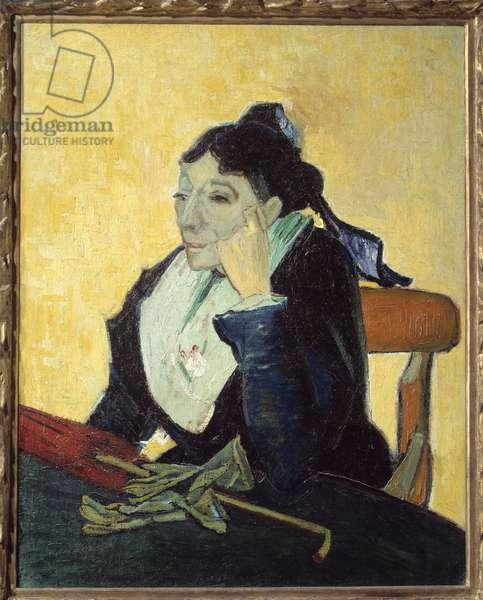 L'Arlesienne ou portrait de Madame Ginoux (1848-1911) Painting by Vincent van Gogh (1853-1900), 1888. Sun 0,92x0,73 m Paris, musee d'Orsay