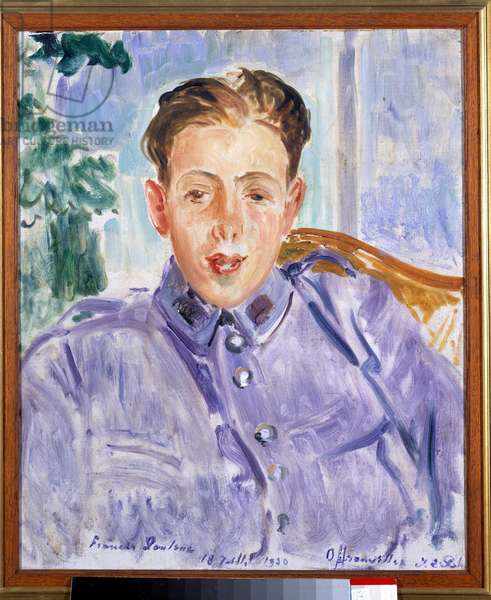 Portrait of Francis Poulenc (1899-1963), French composer, 1920 (oil on canvas)