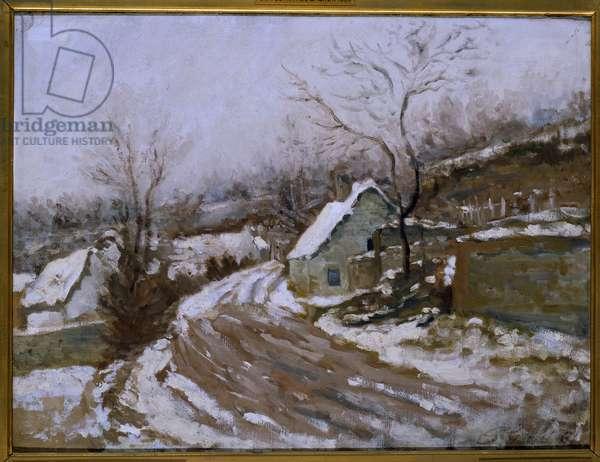 La vieille route à Auvers-sur-Oise (Auvers sur Oise) Painting by Paul Van Ryssel (1826-1909) 1881 Sun. 0,4x0,54 m Paris, musee d'Orsay