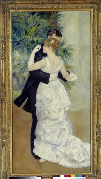 Dance has the city. Painting by Pierre Auguste Renoir (1841-1919) representing Suzanne Valadon and Paul Lhote, 1883. Oil on canvas, 1.80 x 0.90m. Musee d'Orsay - City Dance, Painting by Pierre Auguste Renoir (1841-1919) representing Suzanne Valadon and Paul Lhote, 1883. Oil on canvas, 1.80 x 0.90 m. Orsay Museum, Paris