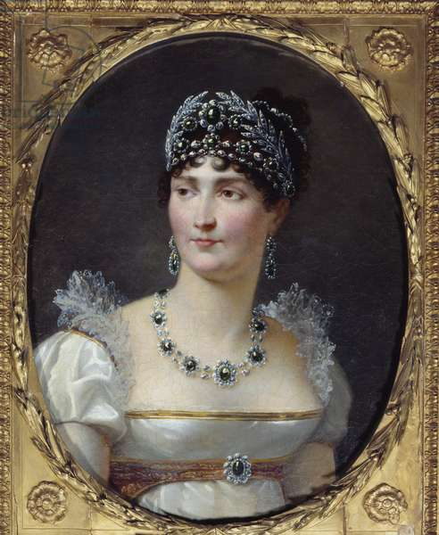 Portrait of the Impress Josephine de Beauharnais (1763-1814) Painting by Henri Francois Riesener (1767-1828) 1806 Malmaison, musee du chateau