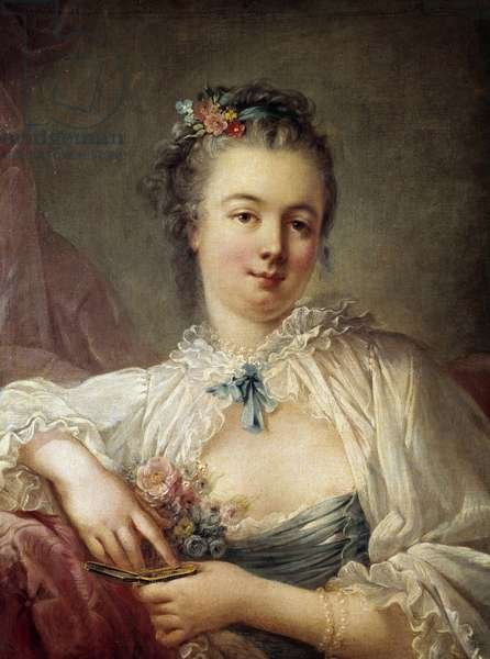 Portrait of a Woman Painting of the French School of the 18th century, Paris, Musee Cognacq Jay
