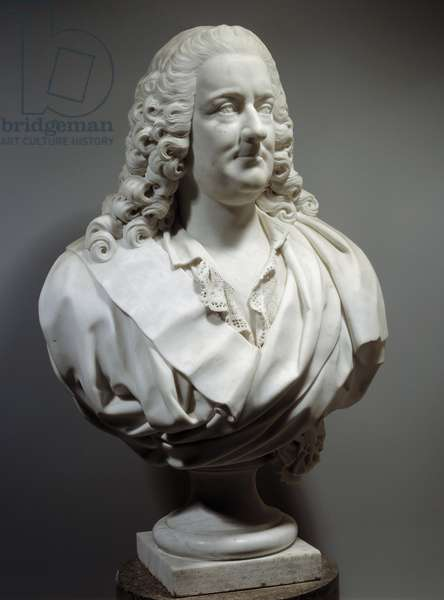 Marble bust by Joseph Francois Marquis Dupleix (1697-1763), director of the company of the Indes Sculpture made by Antoine Bridant (1730-1805) 1787 Sun. 0,8 m Versailles, musee du chateau