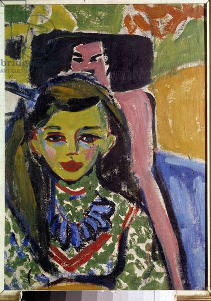 Franzi Painting by Ernst Kirchner (1880-1938) 20th century Private collection