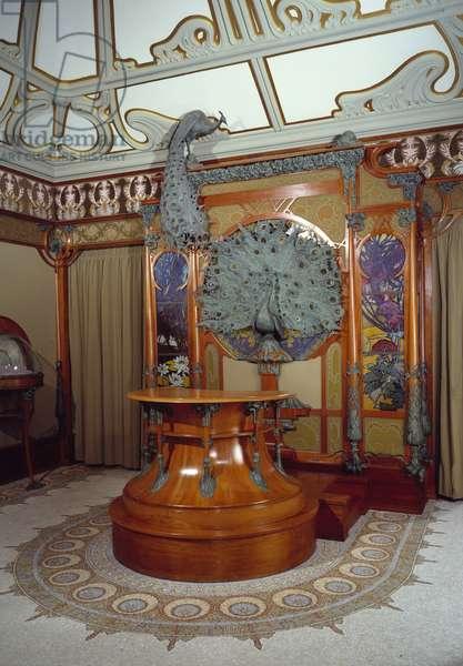 Art Nouveau: interior decor of the jeweller Georges Fouquet's shop (1862-1957) in Paris, 1901 (photo)