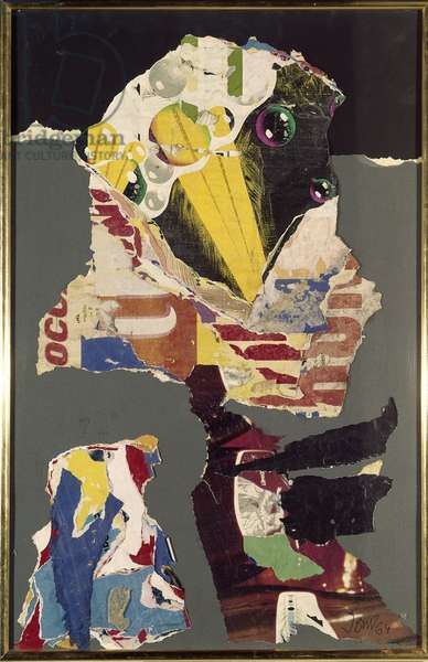 Composition with torn posters Collage by Asger Oluf Jorn (1914-1973), 1964.