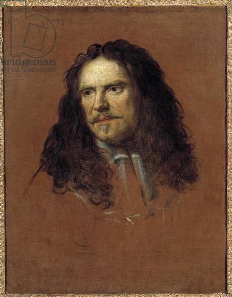 Portrait of Henri de la Tour d'Auvergne, Viscount de Turenne (1611-1675) marechal de France Painting by Charles Lebrun (Le Brun) (1619-1690) 1663 approx. Sun 0,67x0,52 m