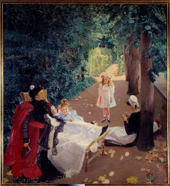 Nap in the Park Painting by Mary Mac Monnies (1858-1946) 19th century. Rouen, Musee des Beaux Arts.