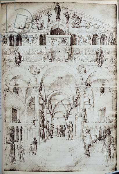 La flagellation du Christ Drawing in pen and ink by Jacopo Bellini (1400-1470) 15th century Sun. 0,42x0,28 m Paris, Musee du Louvre