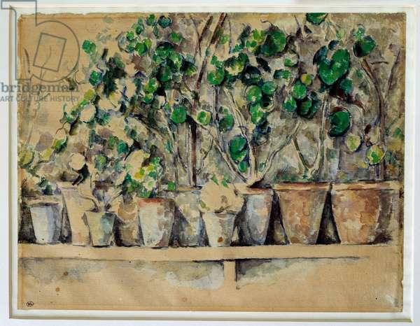 The flower pots Paul Cezanne (1839-1906) 1885 approx. Sun. 0,23 x 0,30 m Paris. Musee d'Orsay