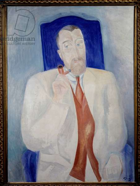 Portrait of Paul Poiret (1879-1944). Painting Andre Derain (1880-1954), 1914. Oil on canvas. Dim: 1.00 x 0.73m. Grenoble, Musee des Beaux Arts.