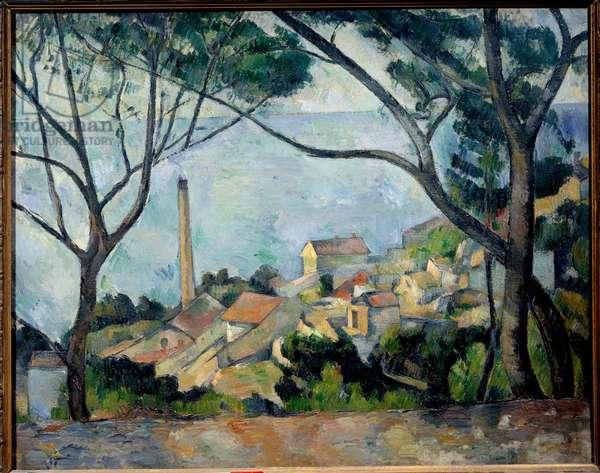 The sea has L'Estaque. Painting by Paul Cezanne (1839-1906), 1879. Oil on canvas. Dim: 0.73 x 0.92m. Paris, Musee Picasso