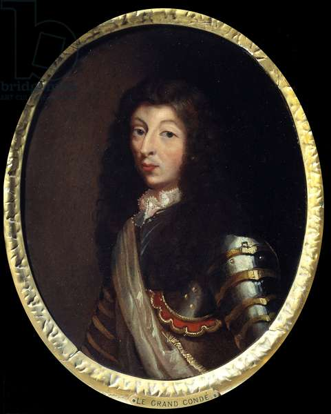 Portrait of Louis II Prince of Bourbon (Bourbon-Conde), the Grand Conde (1621-1686) Painting of the French School of the 17th century. Paris, Musee de l'Armee