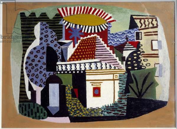 Landscape of Juan les Pins Painting by Pablo Picasso (1881-1973) 1926 Sun. 0,52x0,7 m Paris, Musee Picasso