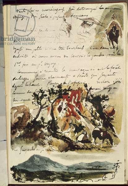 Carnets du Maroc. Drawing by Eugene Delacroix (1798-1863), 1832. Paris, Musee Du Louvre