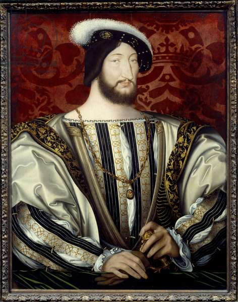 Portrait of Francis I (1494-1547), king of France (with the collar of the Order of Saint Michael) oil on wood, c. 1530