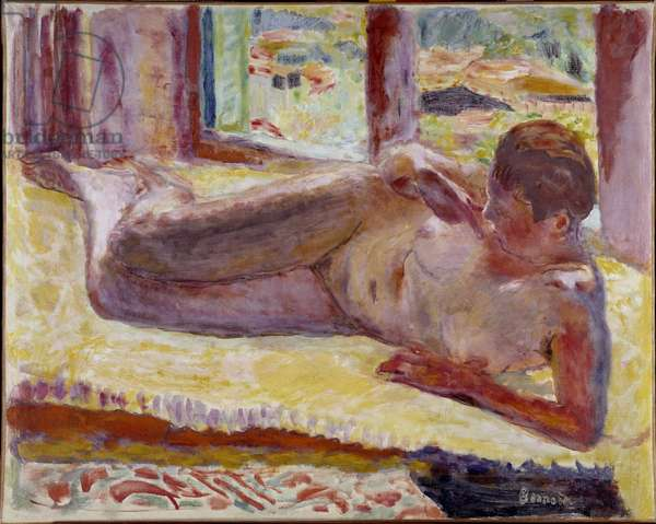 Naked layer Painting by Pierre Bonnard (1867-1947) 20th century Private Collection