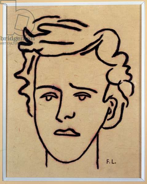 Portrait of Arthur Rimbaud (1854-1891), French poet. Drawing by Fernand Leger (1881 - 1955), 1949. Charleville, Musee Rimbaud.
