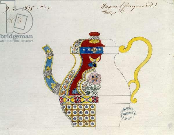 Turkish Theiere. Drawing by Alexandre Evariste Fragonard (1780-1850). Sevres, Porcelain Manufacture