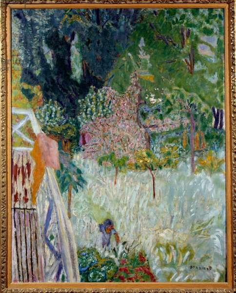 Le apple mier floral ou balcon Vernonet Painting by Pierre Bonnard (1867-1947) 1920 Dim. 1x0,8 m Brest musee des Beaux Arts