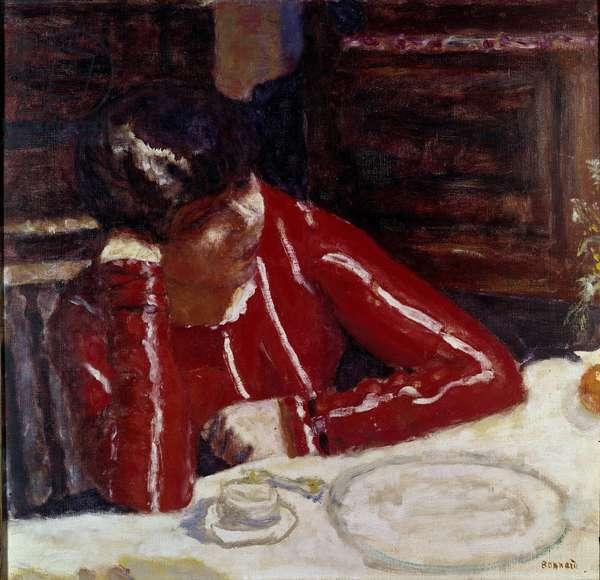 Le corsage rouge Painting by Pierre Bonnard (1867-1947) 1925 Paris musee national d'art moderne