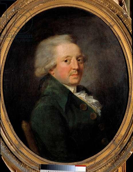 Portrait of Marie Jean Antoine Nicolas de Caritat, Marquis de Condorcet (1743-1793), French philosopher. Anonymous French painting, 18th century. oil on canvas. Dim: 0.72 x 0.60m. Versailles, Chateau Museum