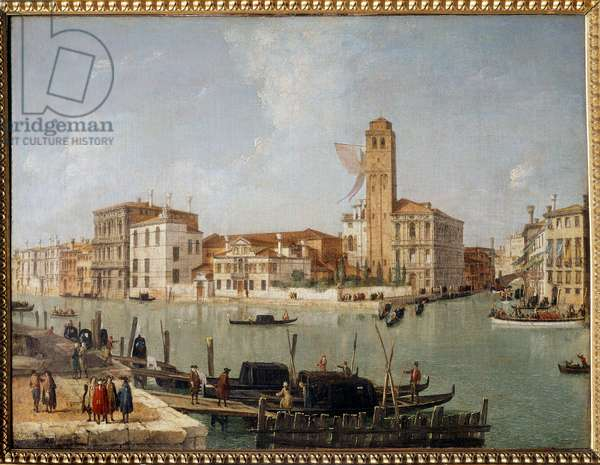 The Grand Canal in Venice Painting by Luca Carnevaris (1663-1730) 18th century Reims, Museum of Fine Arts