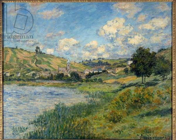 Landscape. Vetheuil. Painting by Claude Monet (1840-1926), 1879. Oil on canvas. Dim: 0.60 x 0.73m. Paris, Musee d'Orsay - Landscape at Vetheuil. Painting by Claude Monet (1840-1926), 1879. Oil on canvas. 0, 60 x 0, 73 m. Orsay Museum, Paris