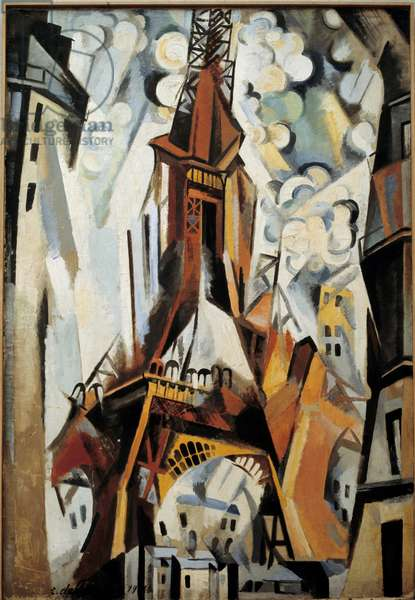 The Eiffel Tower Painting by Robert Delaunay (1885-1941) 1910.