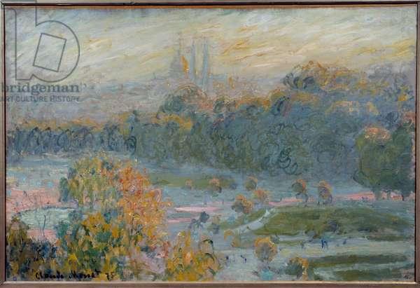 Le jardin des Tuileries Painting by Claude Monet (1840-1926) 1875 Sun. 0,5x0,75 m Paris, musee d'Orsay