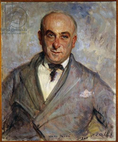Portrait of Max Jacob (1876-1944) French poet Painting by Jacques Emile (Jacques-Emile) Blanche (1861-1942), 1921. Dim. 0.6 x 0.48 m. Rouen Museum of Fine Arts