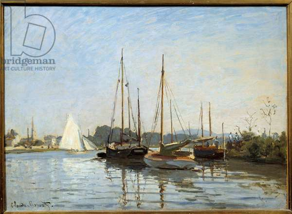 Boats de plaisance à Argenteuil Painting by Claude Monet (1840-1926) 1873 Sun. 0,49x0,65 m Paris, musee d'Orsay - Pleasure boats at Argenteuil. Painting by Claude Monet (1840-1926), 1873. 0.49 x 0.65 m. Orsay Museum, Paris