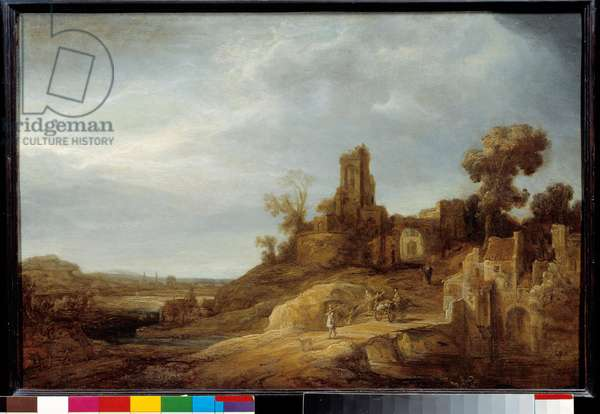 Landscape at the Bridge and the Ruins Painting by Govaert Flink (1615/1616-1660) 1637 Sun. 0,49x0,75 m Paris, Musee du Louvre