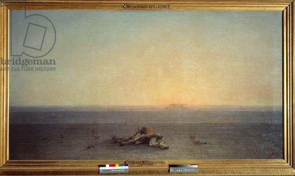 Sahara also means desert. Painting by Gustave Guillaumet (1840-1887), 1867. Oil on canvas. Dim: 1,10 x 2m. Paris, Musee D'Orsay.
