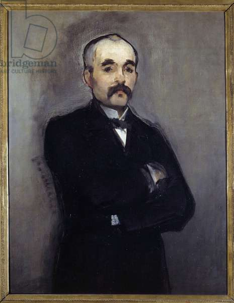 Portrait of Georges Clemenceau (1841-1929) Painting by Edouard Manet (1832-1883) 19th century Sun. 0,94 x 0,74 m Paris, musee d'orsay