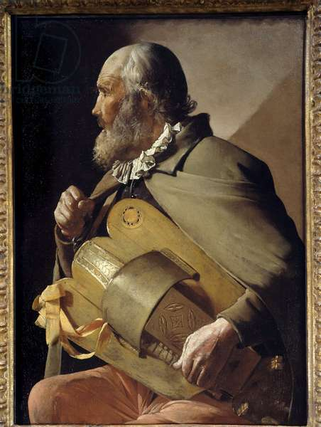 The Old Ribbon Painting by Georges de La Tour (1593-1652) Around 1640 Madrid, Prado Museum