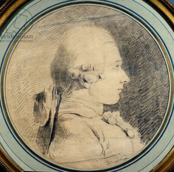 Portrait of the Marquis de Sade (1740-1814) Anonymous drawing. 18th century Private collection