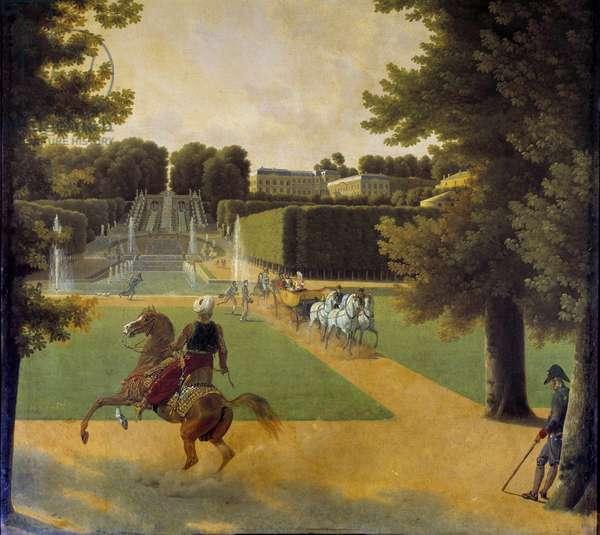 La promenade dans la parc de Saint Cloud Painting by Joseph Bidault (1758-1846) 1808 Paris, Musee Marmottan